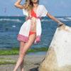 Beyaz Şifon Pareo Plaj Elbisesi