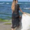 Uzun siyah pareo